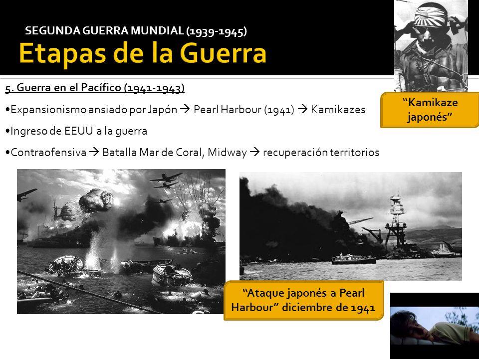 Etapas de la Guerra SEGUNDA GUERRA MUNDIAL (1939-1945)