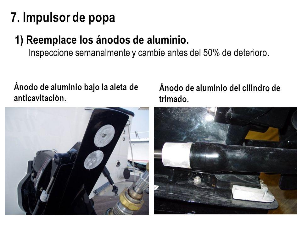 7. Impulsor de popa 1) Reemplace los ánodos de aluminio.
