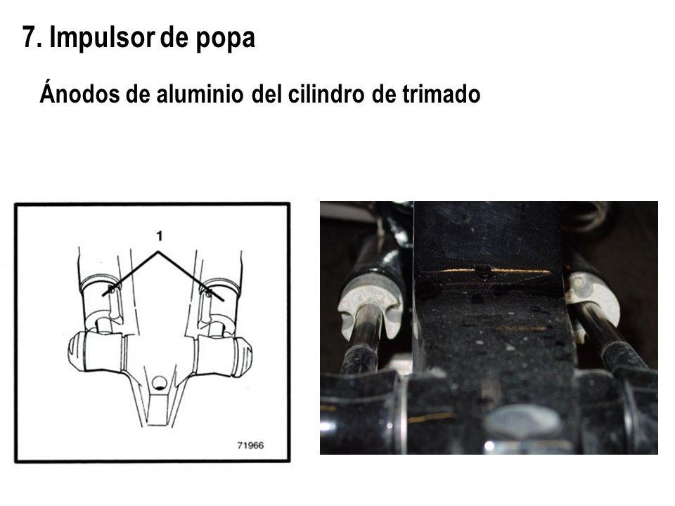 7. Impulsor de popa Ánodos de aluminio del cilindro de trimado