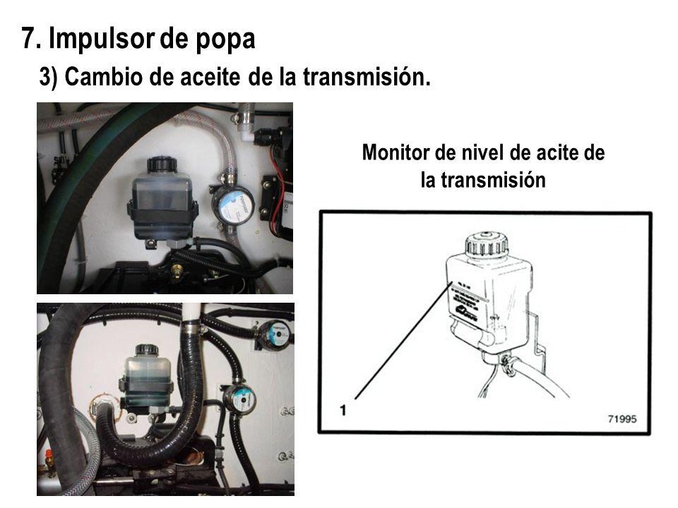 Monitor de nivel de acite de la transmisión