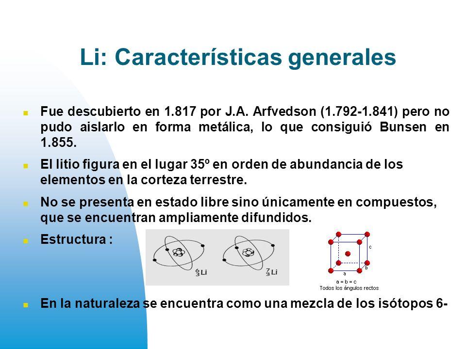 Li: Características generales