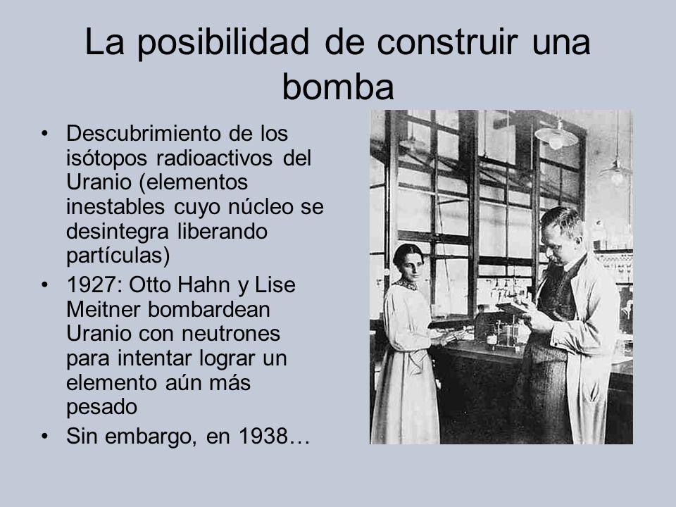 La posibilidad de construir una bomba
