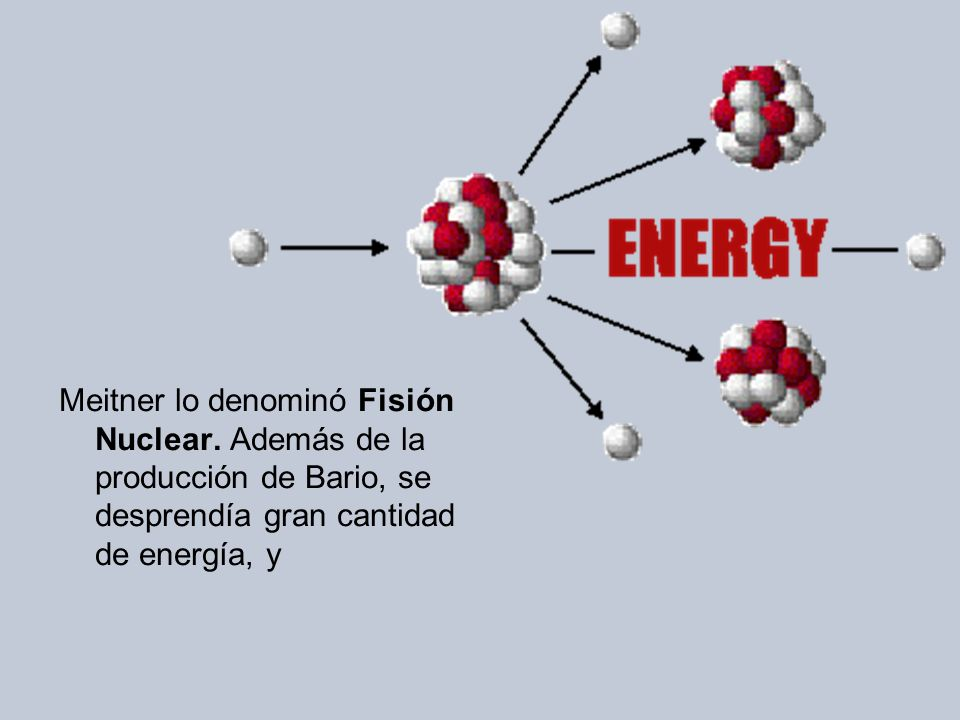 Meitner lo denominó Fisión Nuclear