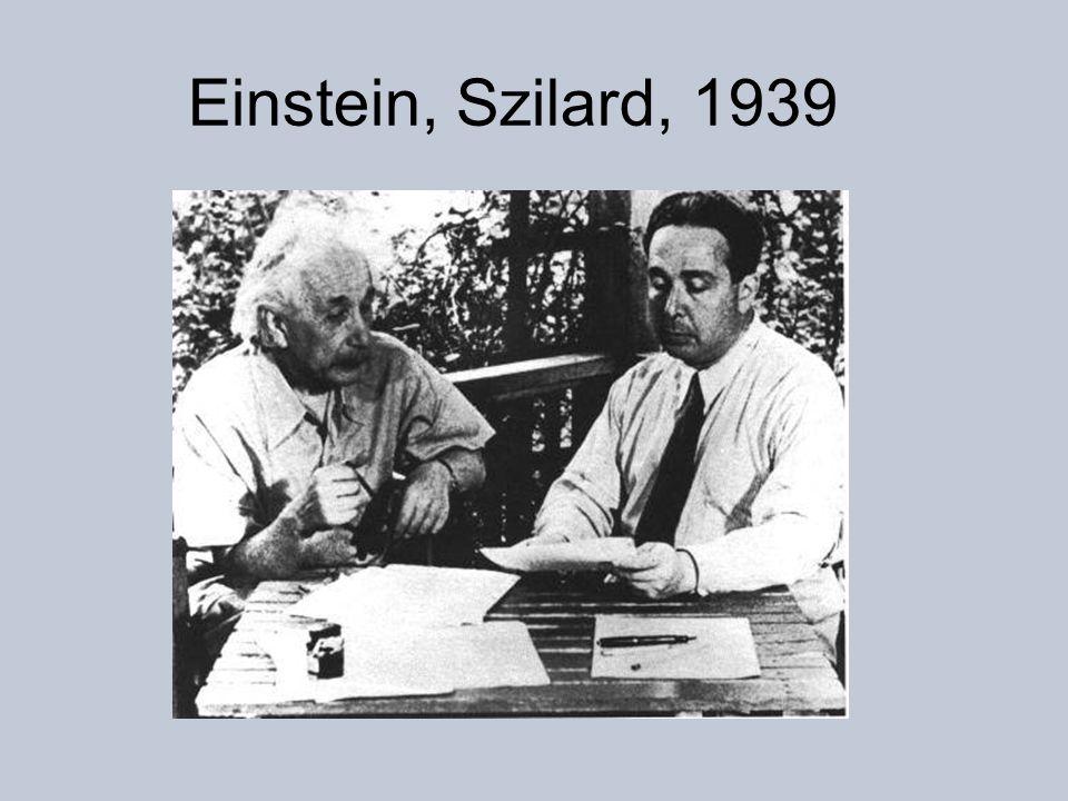 Einstein, Szilard, 1939