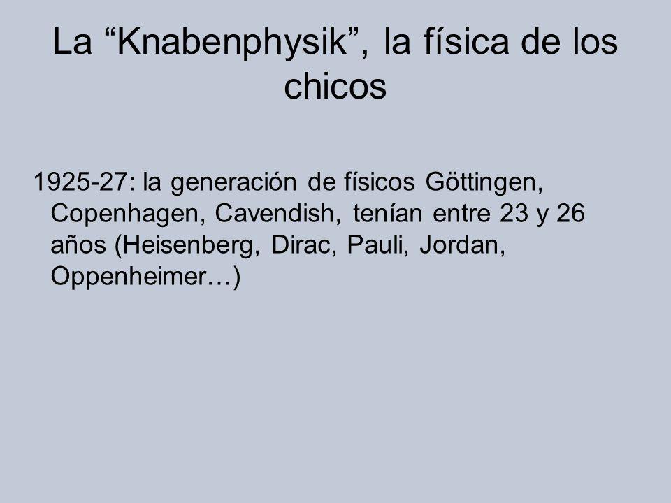 La Knabenphysik , la física de los chicos