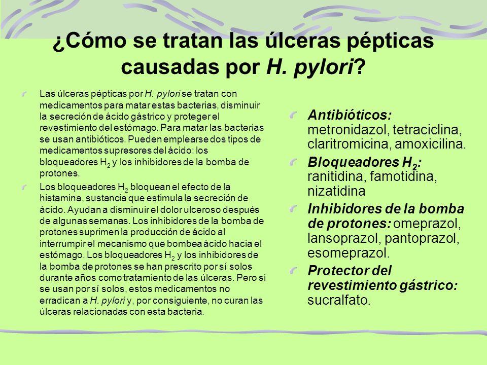 ¿Cómo se tratan las úlceras pépticas causadas por H. pylori