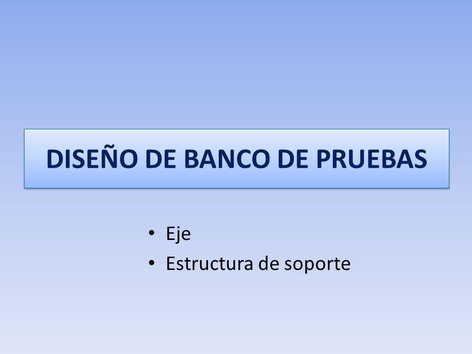 DISEÑO DE BANCO DE PRUEBAS