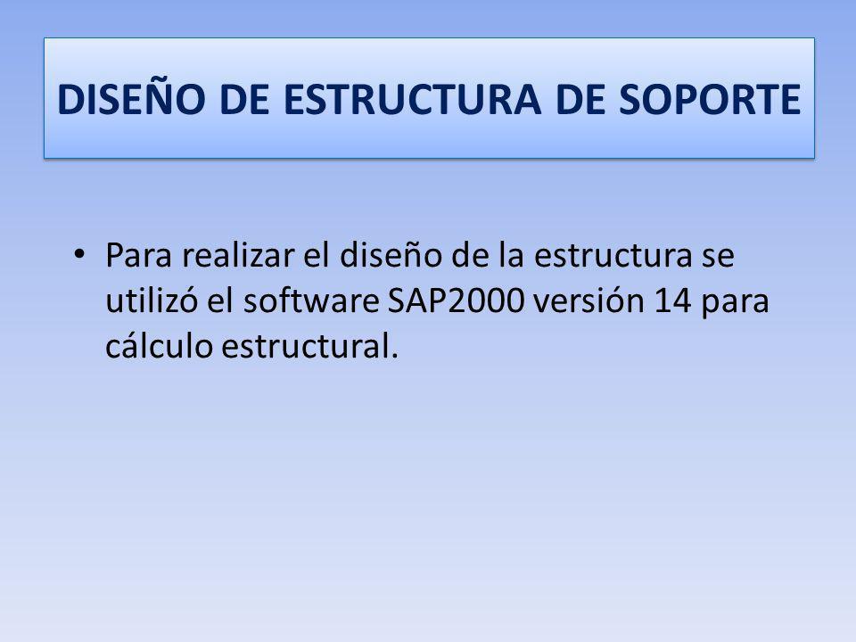DISEÑO DE ESTRUCTURA DE SOPORTE