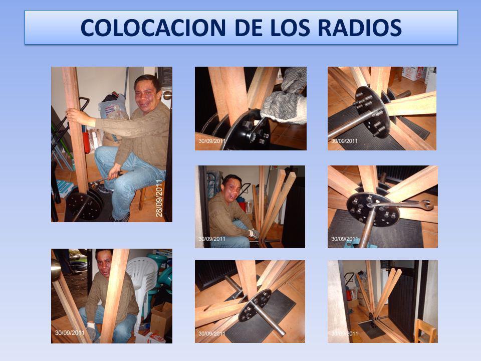 COLOCACION DE LOS RADIOS