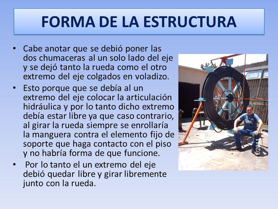 FORMA DE LA ESTRUCTURA