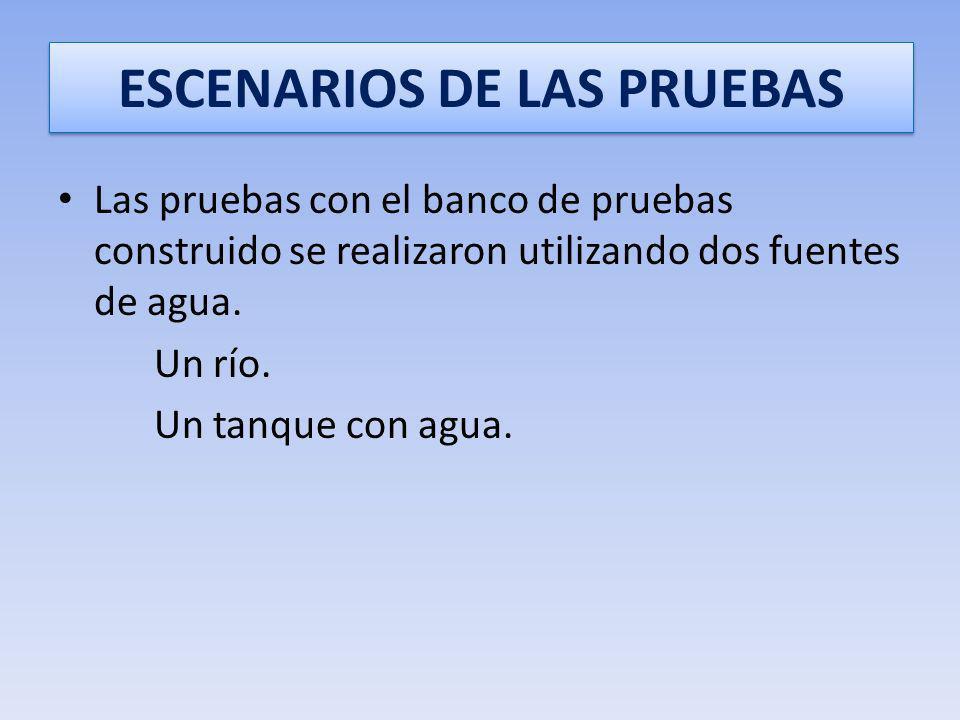 ESCENARIOS DE LAS PRUEBAS