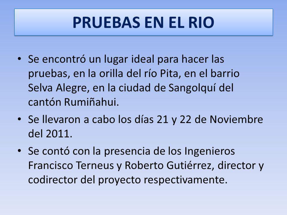 PRUEBAS EN EL RIO