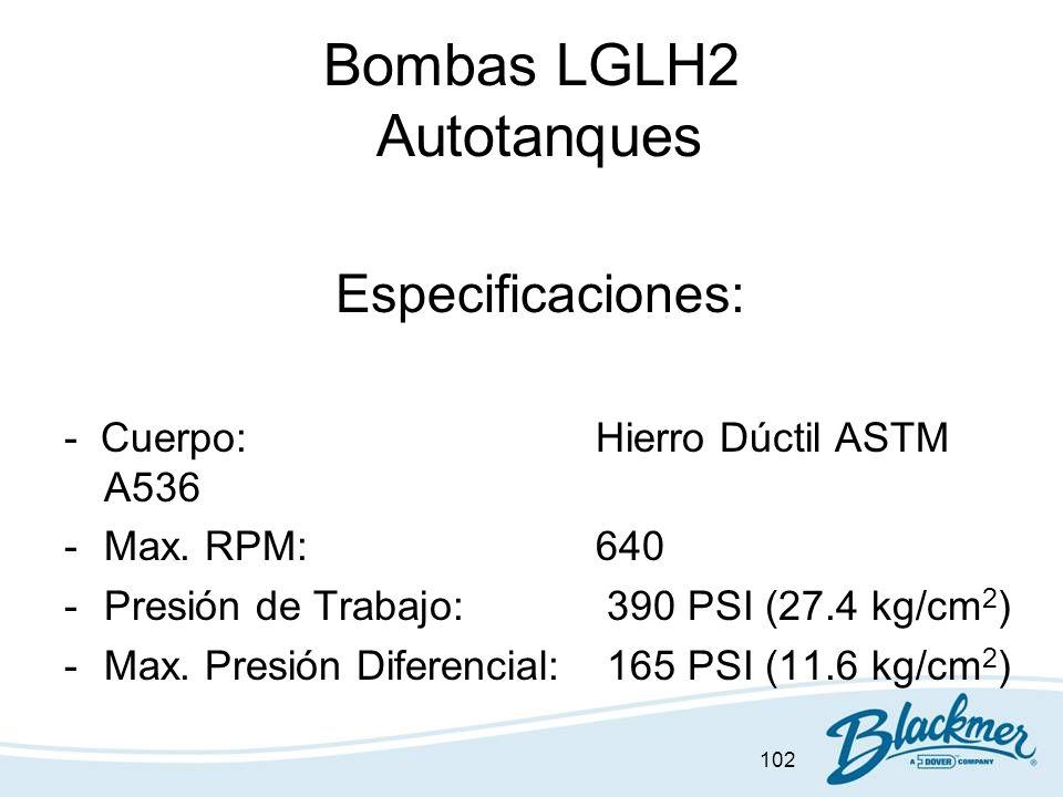 Bombas LGLH2 Autotanques