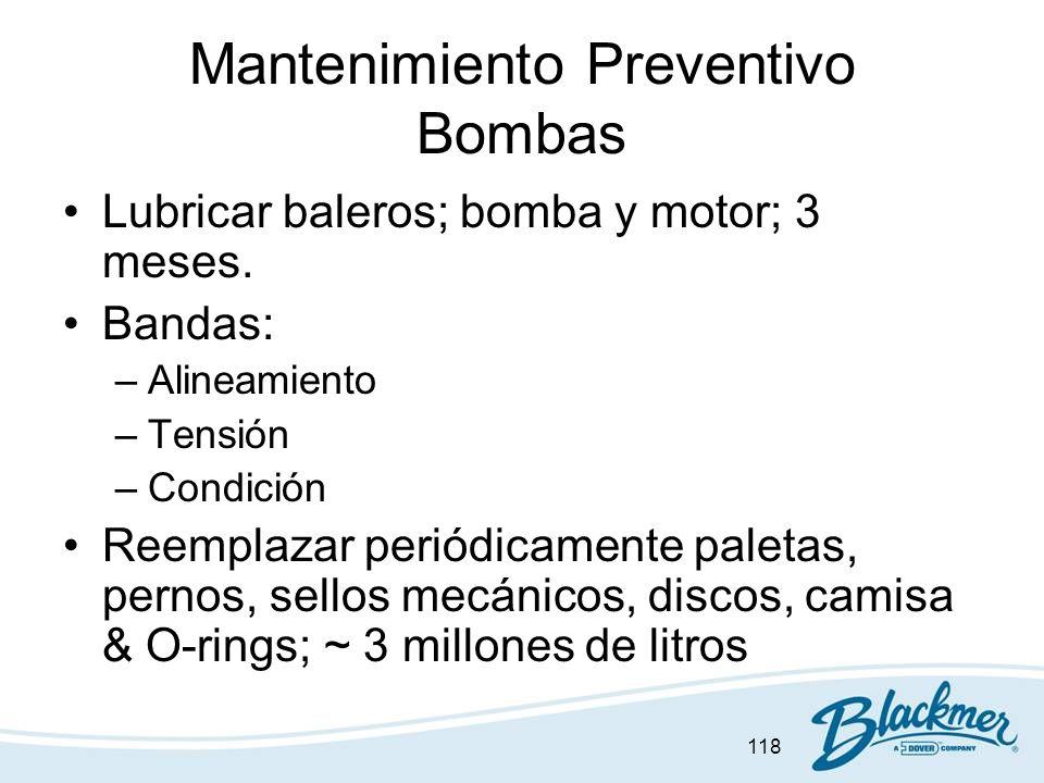 Mantenimiento Preventivo Bombas