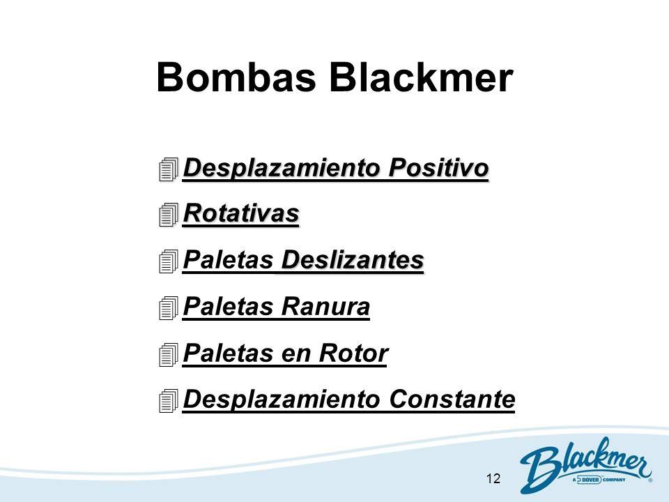 Bombas Blackmer Desplazamiento Positivo Rotativas Paletas Deslizantes