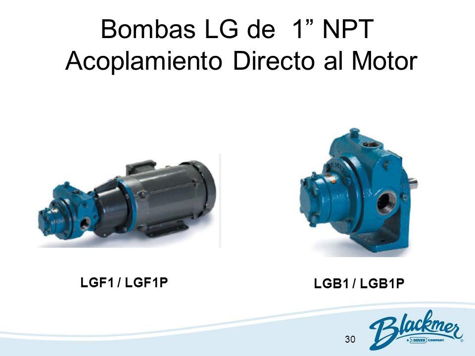 Bombas LG de 1 NPT Acoplamiento Directo al Motor