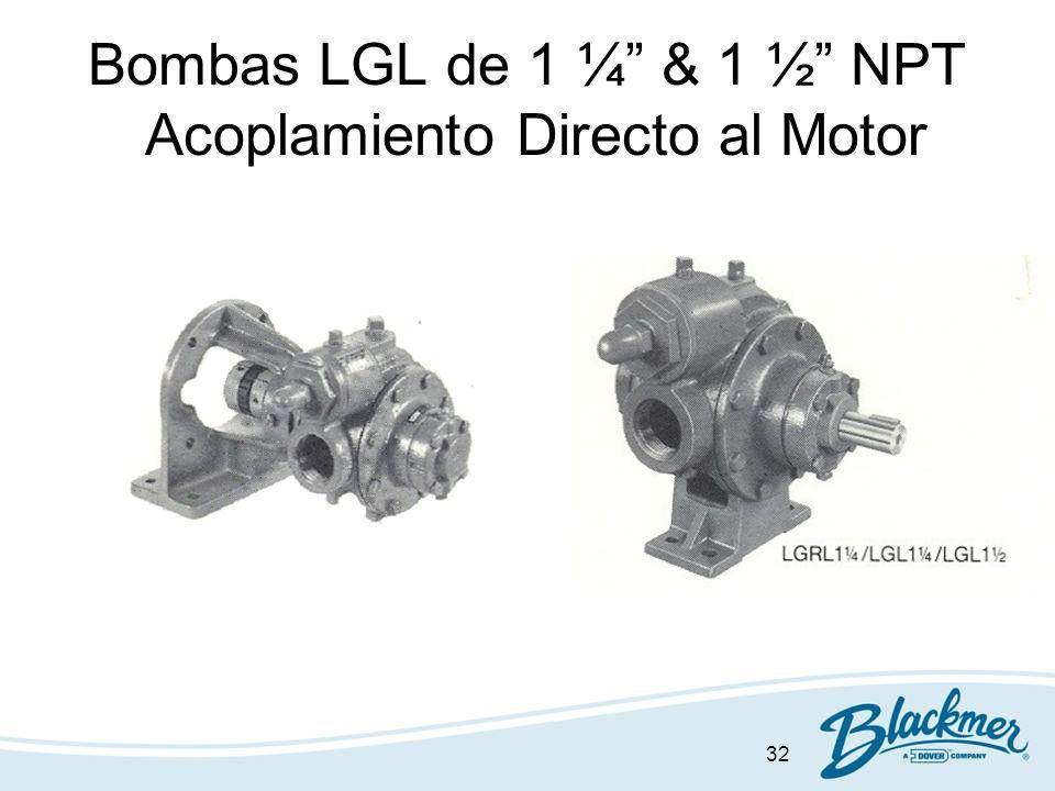 Bombas LGL de 1 ¼ & 1 ½ NPT Acoplamiento Directo al Motor