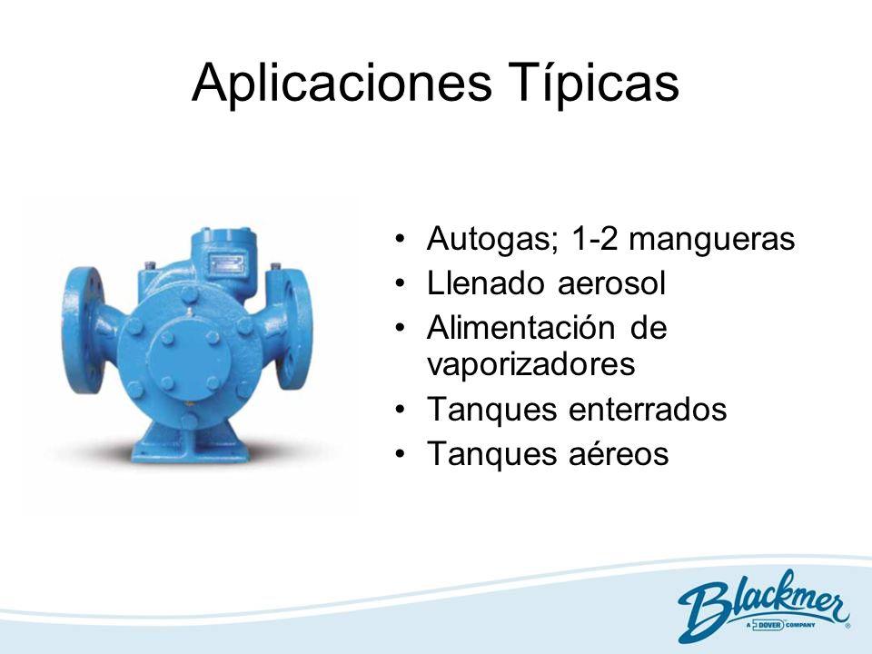 Aplicaciones Típicas Autogas; 1-2 mangueras Llenado aerosol