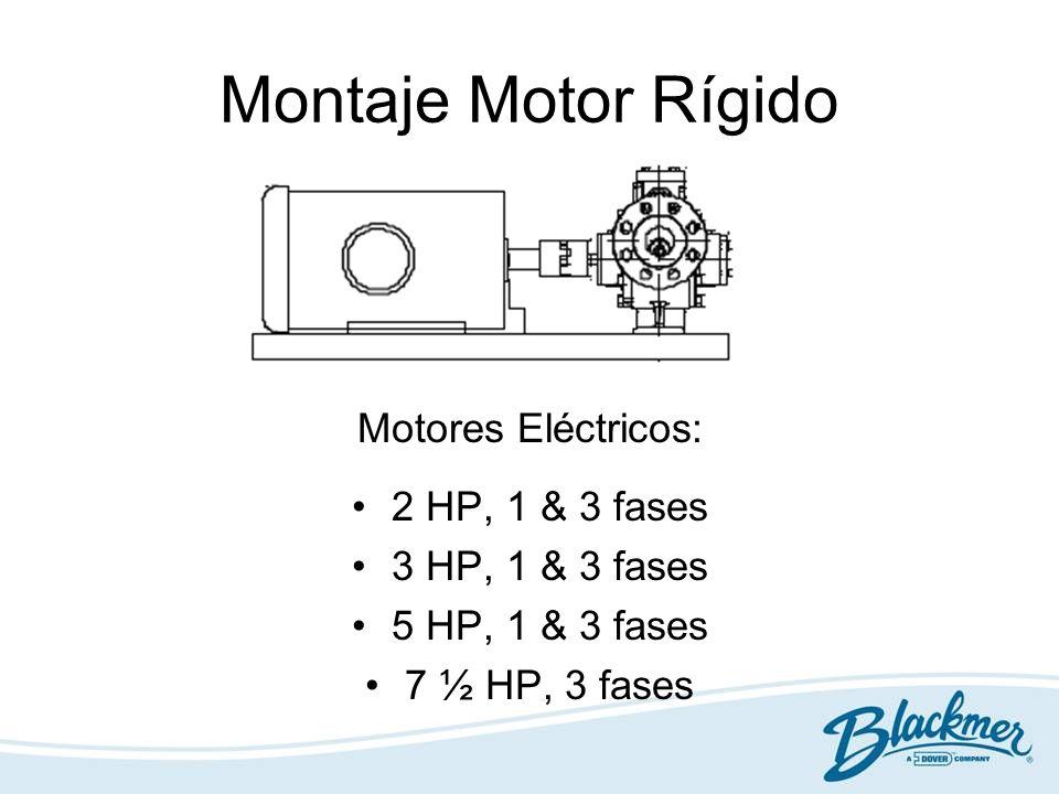Montaje Motor Rígido Motores Eléctricos: 2 HP, 1 & 3 fases