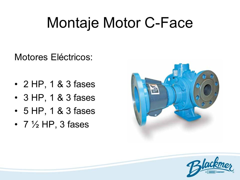 Montaje Motor C-Face Motores Eléctricos: 2 HP, 1 & 3 fases