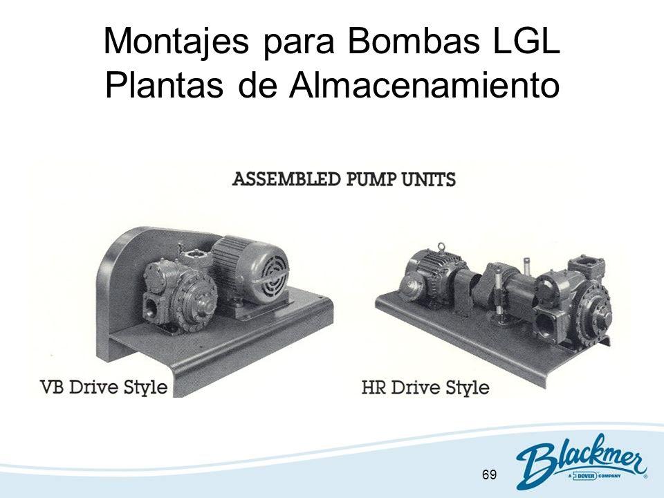 Montajes para Bombas LGL Plantas de Almacenamiento