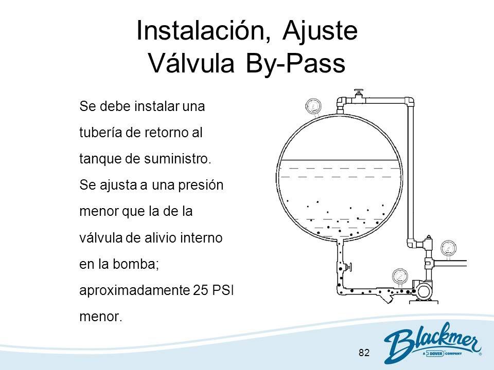 Instalación, Ajuste Válvula By-Pass