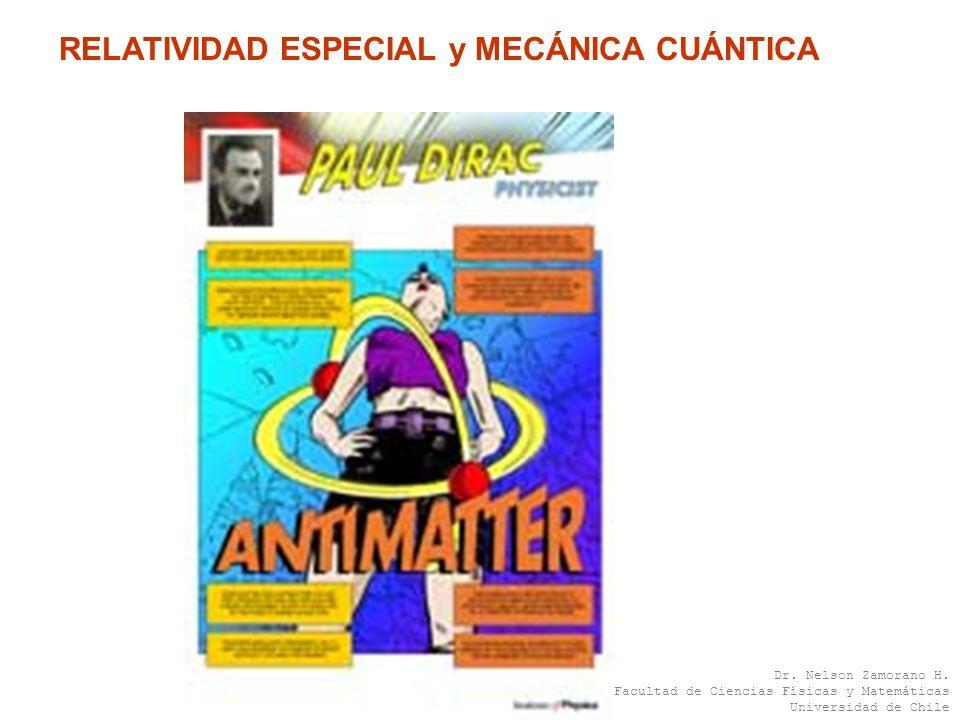 RELATIVIDAD ESPECIAL y MECÁNICA CUÁNTICA