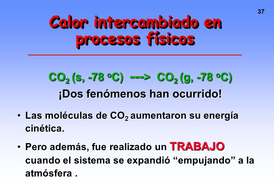 Calor intercambiado en procesos físicos