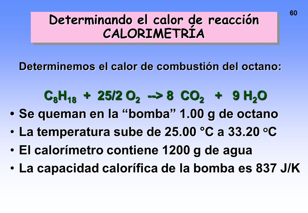 Determinando el calor de reacción