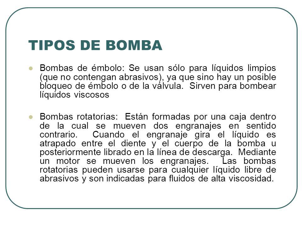 TIPOS DE BOMBA