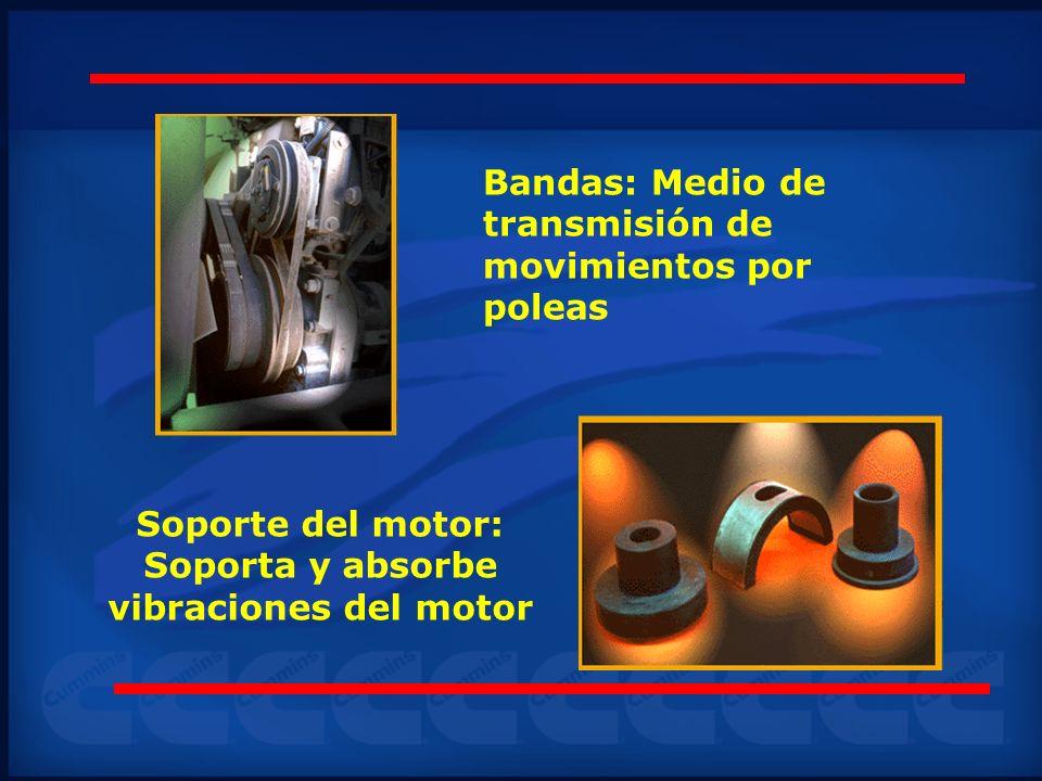 Soporte del motor: Soporta y absorbe vibraciones del motor