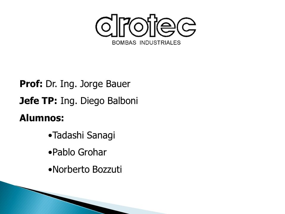 Prof: Dr. Ing. Jorge Bauer