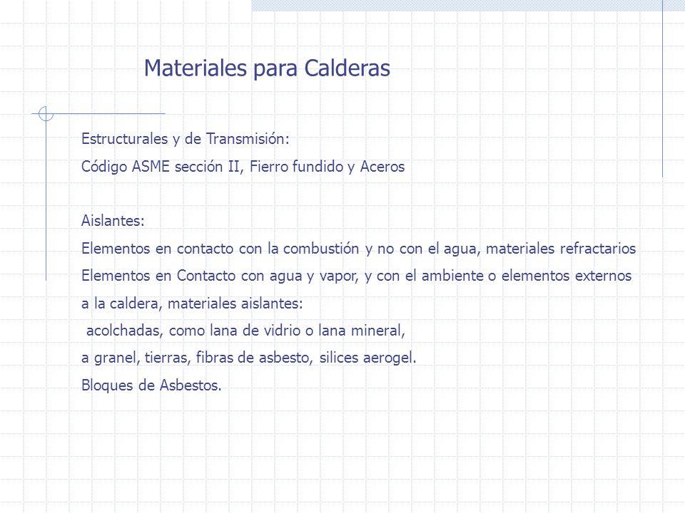 Materiales para Calderas