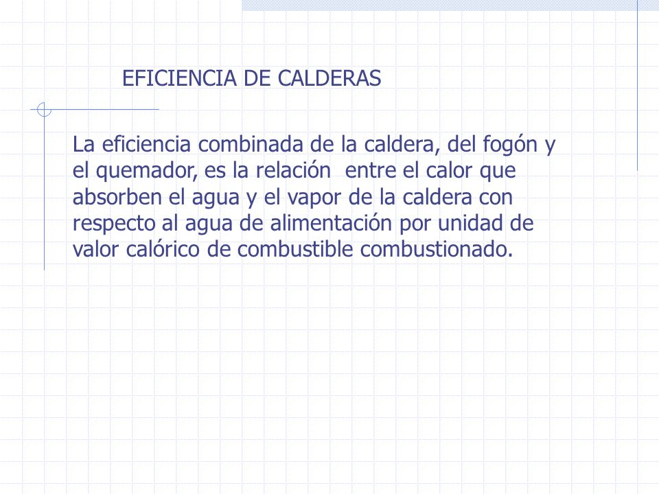 EFICIENCIA DE CALDERAS