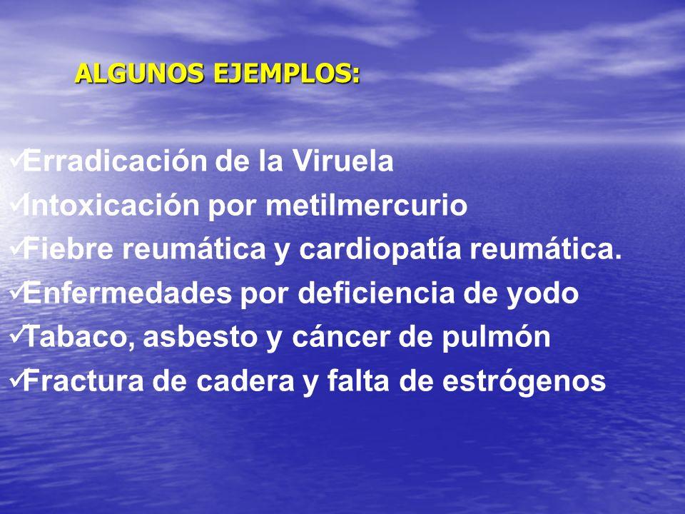 Erradicación de la Viruela Intoxicación por metilmercurio