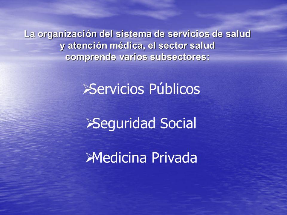 Servicios Públicos Seguridad Social Medicina Privada