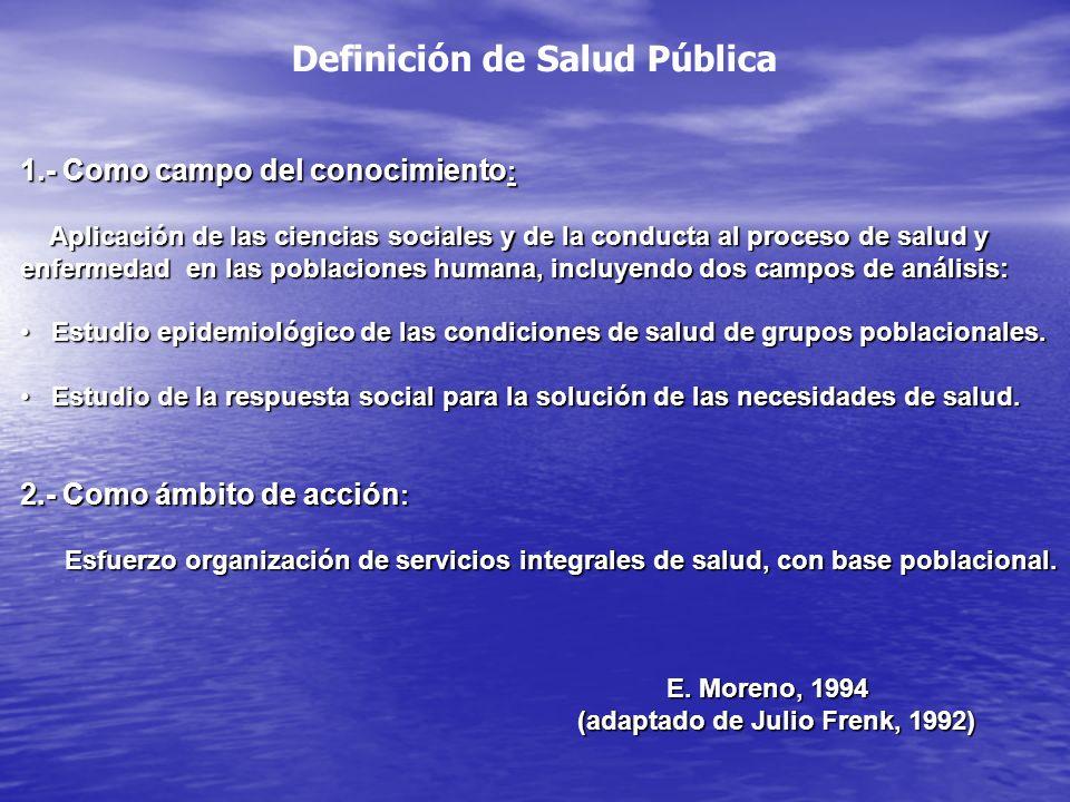 Definición de Salud Pública