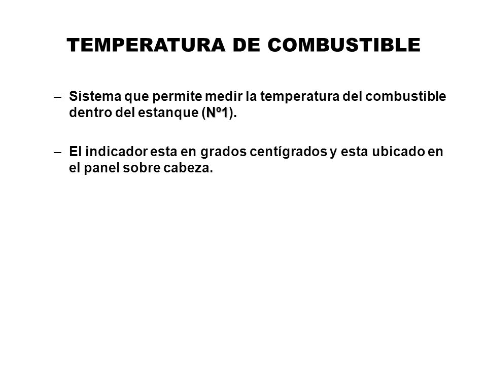 TEMPERATURA DE COMBUSTIBLE