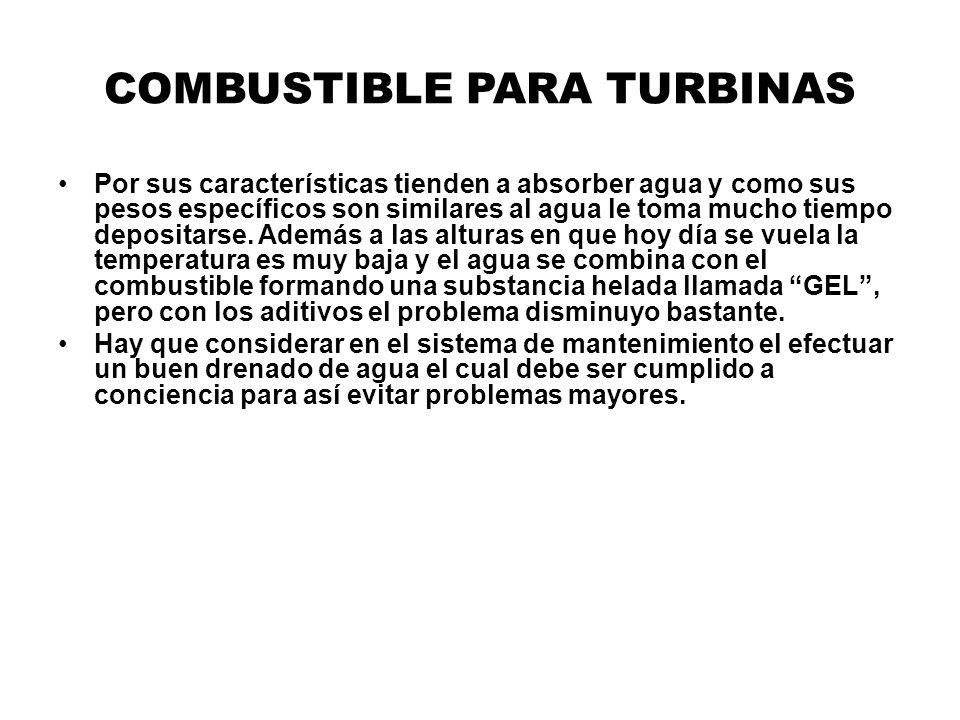 COMBUSTIBLE PARA TURBINAS