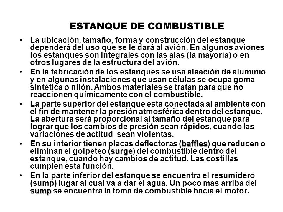 ESTANQUE DE COMBUSTIBLE