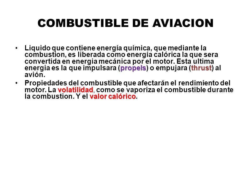 COMBUSTIBLE DE AVIACION