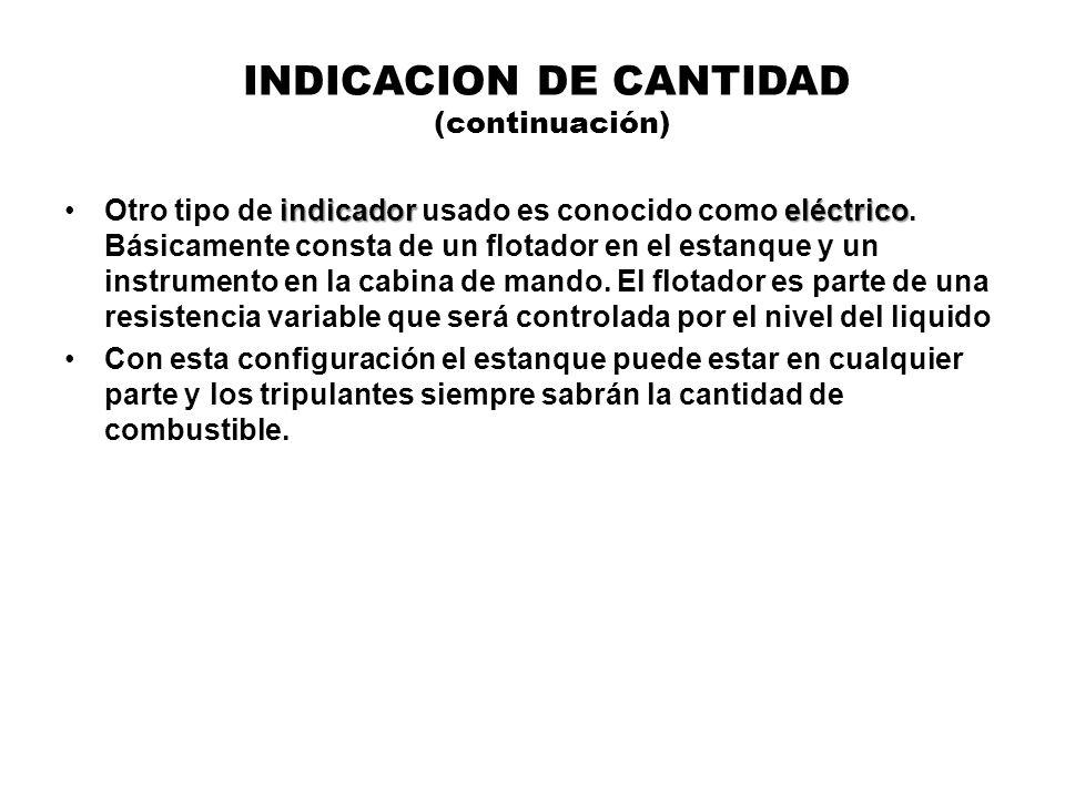 INDICACION DE CANTIDAD (continuación)