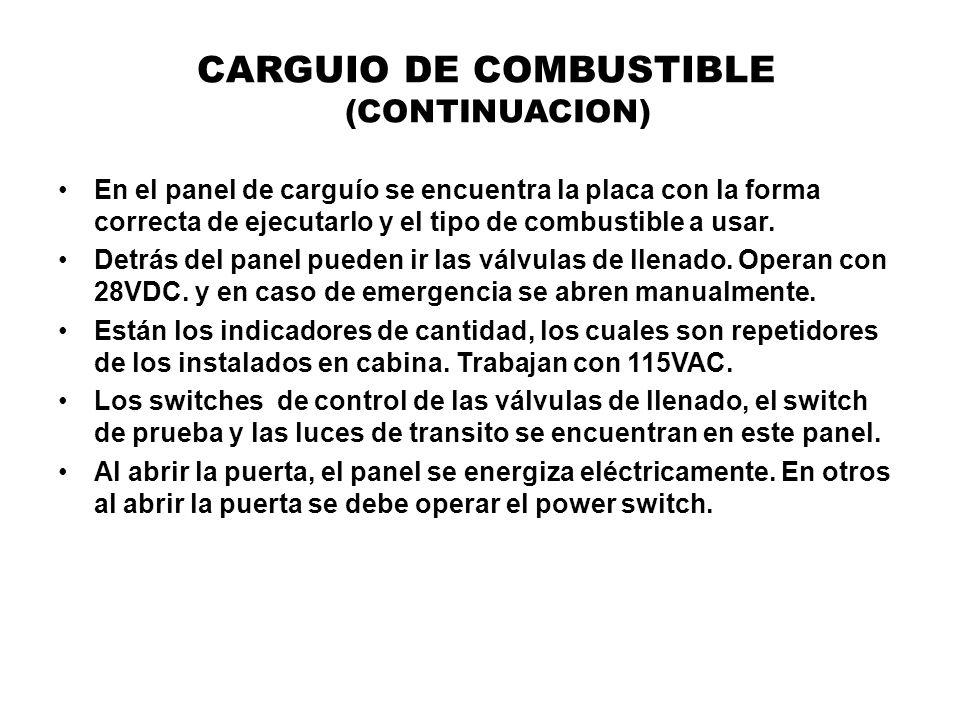 CARGUIO DE COMBUSTIBLE (CONTINUACION)