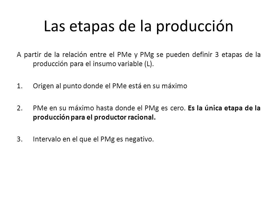 Las etapas de la producción