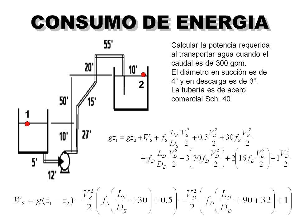 CONSUMO DE ENERGIA 2 1 Calcular la potencia requerida