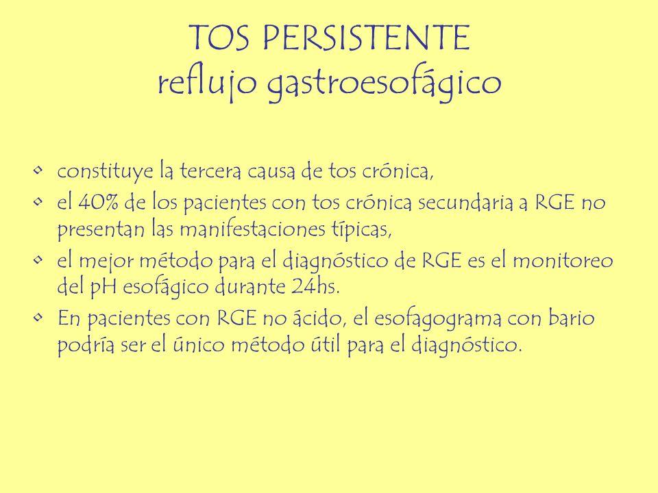 TOS PERSISTENTE reflujo gastroesofágico