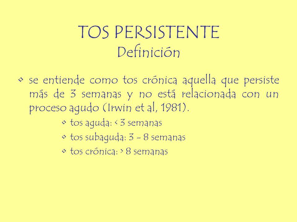 TOS PERSISTENTE Definición