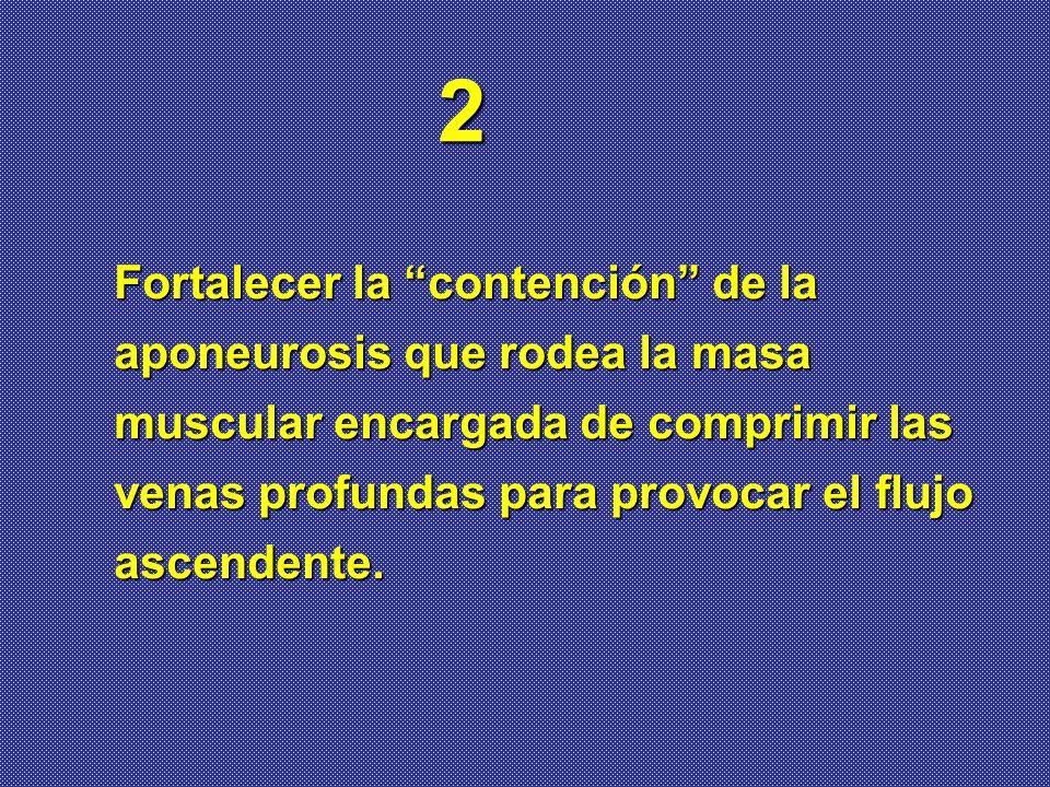 2 Fortalecer la contención de la aponeurosis que rodea la masa