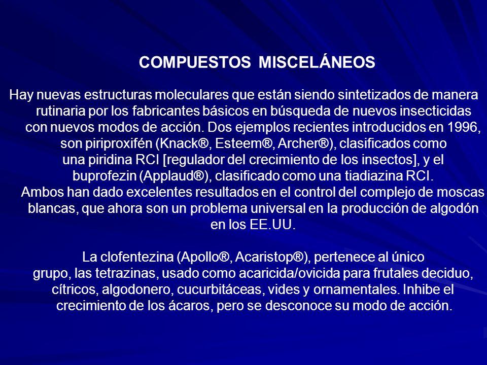 COMPUESTOS MISCELÁNEOS
