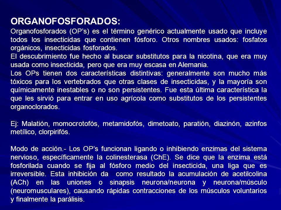 ORGANOFOSFORADOS: